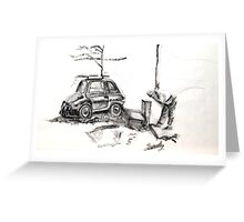 It's been a hard day at work- 500 FIAT Greeting Card