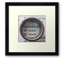 Wedding Framed Print