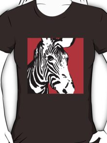 Red Zebra - Pop Art Graphic T-Shirt T-Shirt