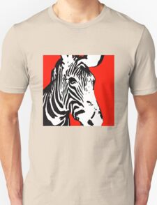 Red Zebra - Pop Art Graphic T-Shirt Unisex T-Shirt