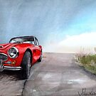 Austin Healey at the Coast by JohnLowerson