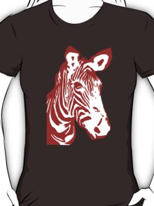Zebra - Pop Art Graphic T-Shirt (red) T-Shirt