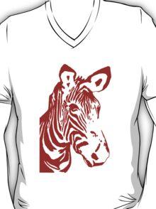 Zebra - Pop Art Graphic T-Shirt (red) T-Shirt