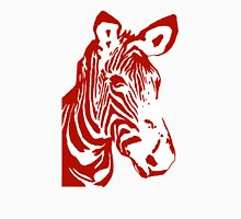 Zebra - Pop Art Graphic T-Shirt (red) Womens Fitted T-Shirt
