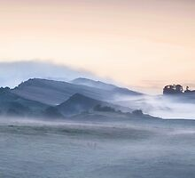 Hadrian's Wall at Cawfields Crag by Joan Thirlaway
