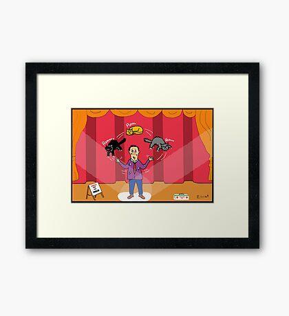 Amazo - The Cat Juggler Framed Print