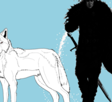 Jon Snow Globe Sticker