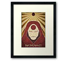 Legend of Korra - Amon Propaganda Poster Framed Print