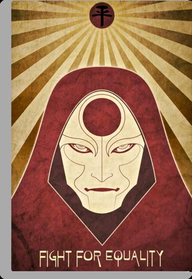 Legend of Korra - Amon Propaganda Poster by jindesign