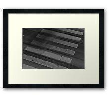 Staining Shadows Framed Print