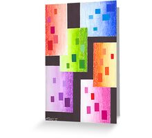36 RECTANGLES Greeting Card