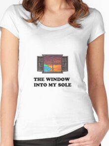 The window into my sole Women's Fitted Scoop T-Shirt