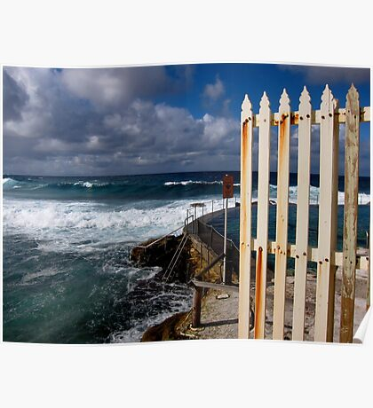 bronte sea baths Poster