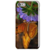 Butterfly-PurpleFlower iPhone Case/Skin