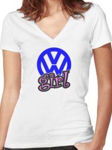 VW Girl Women's Fitted V-Neck T-Shirt