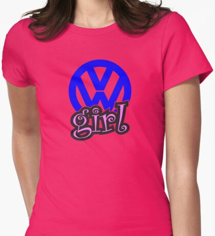 VW Girl Womens Fitted T-Shirt