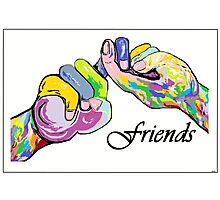 The Sign Language of FRIENDS Photographic Print