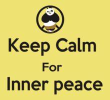 KEEP CALM for inner peace Kids Tee