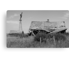 Abandoned house in monochrome Canvas Print