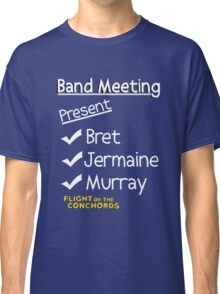 Flight of the Conchords - Band Meeting Classic T-Shirt