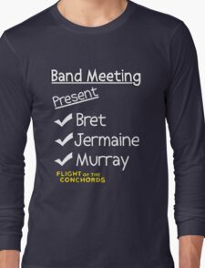 Flight of the Conchords - Band Meeting Long Sleeve T-Shirt