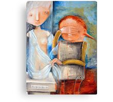 Discovering Naked Truth Canvas Print