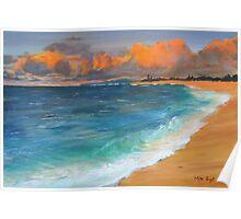 Evening Seascape Poster