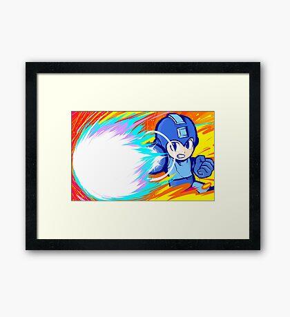 Mega Man   Charge Shot Framed Print