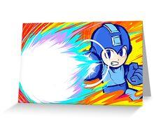 Mega Man   Charge Shot Greeting Card