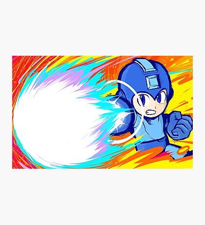Mega Man   Charge Shot Photographic Print