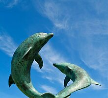 David Wynne Dolphins by Alex Cassels