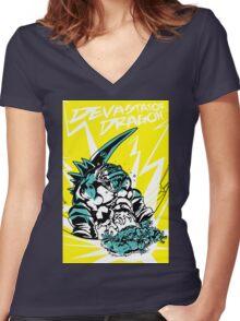 Devastator Dragon - Finisher Tee Women's Fitted V-Neck T-Shirt