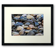 Beach Pebbles Framed Print