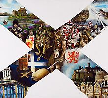 Scotland Cross of St Andrew by patriotart