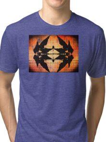 Western Leaf Pattern Tri-blend T-Shirt