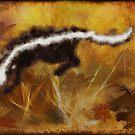Wild Skunk in Autumn Garden by Sukai by Skye Ryan-Evans