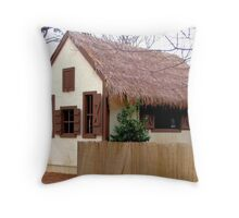Jack and the Beanstalk House - Dallas Arboretum Throw Pillow