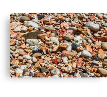 Water Soaked Pebbles Canvas Print