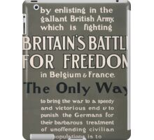Help to end the war by enlisting carry the fight into the enemys country 836 iPad Case/Skin