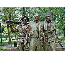 Three Soldiers Statue Photographic Print