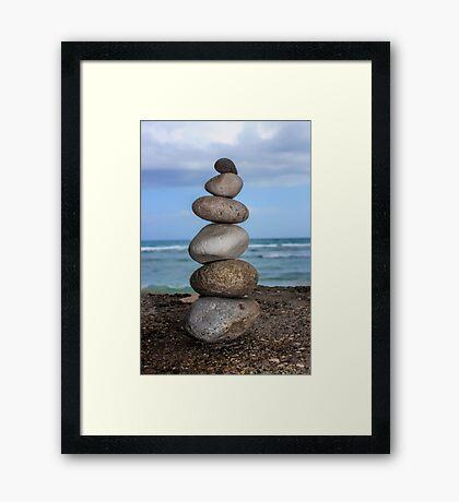Stacked Pebbles 01 Framed Print