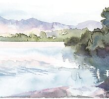 Dawn Over The Lake by Olga-Parr