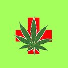Medical Marijuana Cross by HighDesign