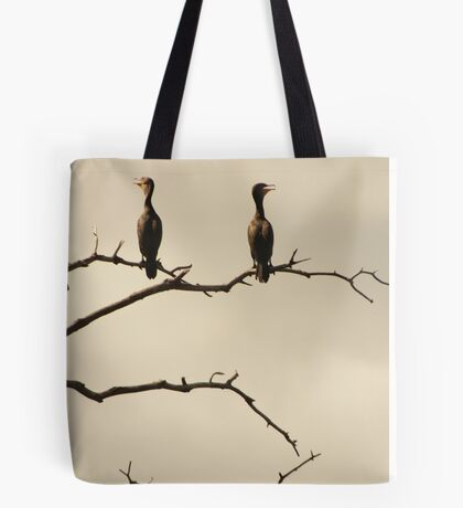 The Snappy Conversation of Cormorants Tote Bag