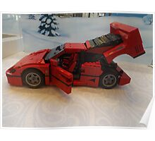 Lego Ferrari, Lego Rockefeller Center Store, Rockefeller Center, New York City Poster