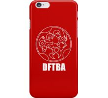 DFTBA - Gallifreyan (White) iPhone Case/Skin
