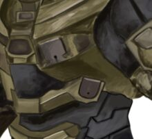 Master Chief Digital Painting Sticker