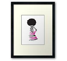 chris zebra Framed Print