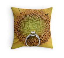 Engagment Flower Throw Pillow