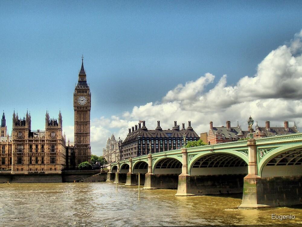 London - Big Ben - Tower Bridge by Eugenio